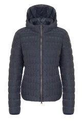 Quilted jacket ladies Pleated Effect grey 1