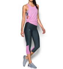 Leggings Donna Fly By Capri nero rosa