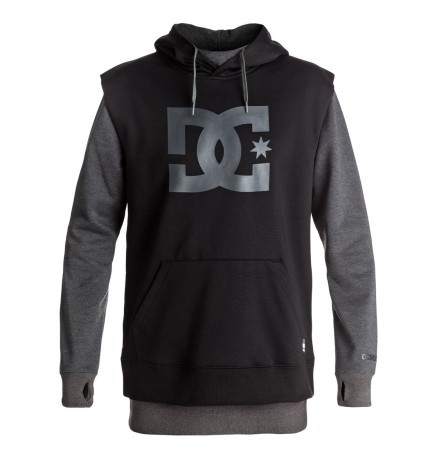 221f29974ad Men's Sweatshirt With Double Hood Dryden colore Black - Dc Shoes ...