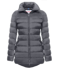 Down jacket Women Without Hood grey