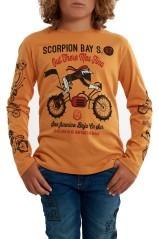 T-Shirt Junior Moto arancio