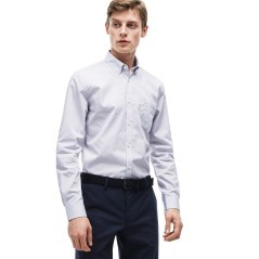 Man shirt Poplin wrinkled Solid Color