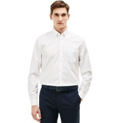 Man Shirt In Mini Piqué Solid Colour
