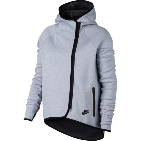Sweatshirt Women s Sportswear Tech Fleece Cape colore Grey Black - Nike -  SportIT.com 0709fc2f1ee5