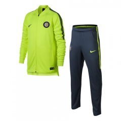 The suit Inter Tracksuit jr yellow blue