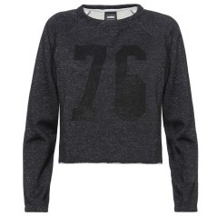 Sweat-shirt Femmes Crop-Top en Lurex