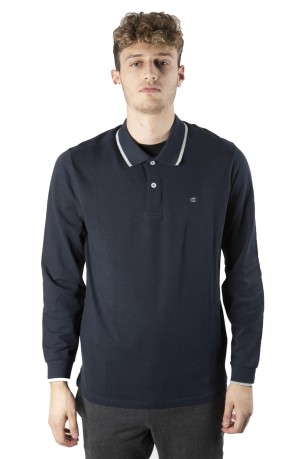 Polo Maniche Lunghe Cotton Piquet blu