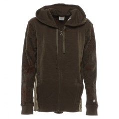 Felpa Donna Terry Full Zip Hooded grigio