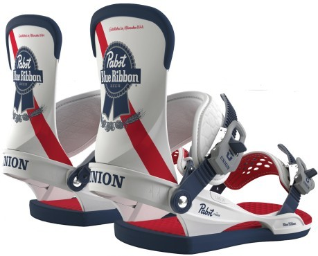 Attacco Uomo Snowboard Pabst Blue Ribbon Beer