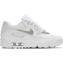 Scarpe Junior Air Max 90 Leather GS bianco oro