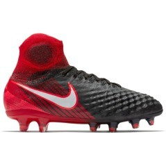 Junior chaussures de Football Magista Obra II noir rouge