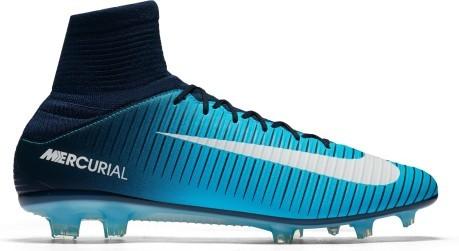 Nike performance mercurial veloce iii df fg scarpe da calcetto con tacchetti thunder blueglacier bluegamma blue zalando turchesi pelle