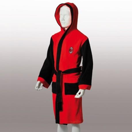 400ceb681b Bathrobe Milan of Terry as a Child colore Red Black - Uniontex ...