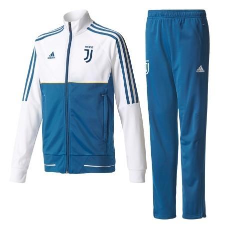 459cf6491 Suit Juve Pes Suit jr 17 18 colore White Blue - Adidas - SportIT.com