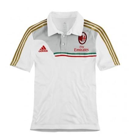 Polo Shirt Ac Milan 2014 White colore White - Adidas - SportIT.com b319d9fb93b2b