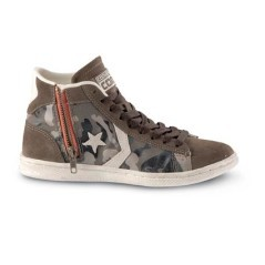 All Star militari alte Converse Pro Leather Suede con la zip