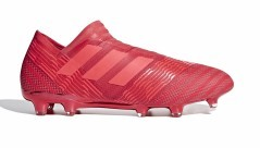 Chaussures de Football Adidas Nemeziz 17+ FG rouge