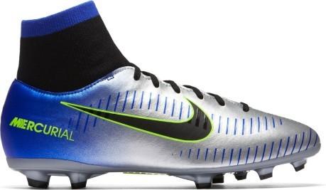 Botas de fútbol de niño Nike Mercurial Victory VI Neymar FG azul-gris b6aab21d18ed1