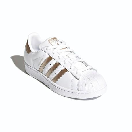 Scarpe Donna SuperStar 2018 colore Bianco Oro Adidas