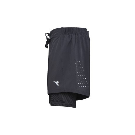 Short Running Uomo Double Layer nero