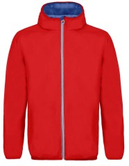 Windproof jacket Man red blue