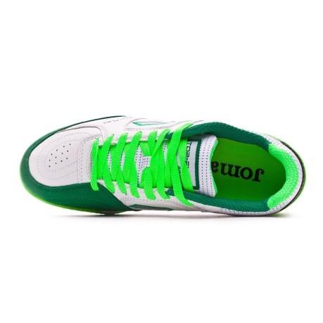 34d6bf7a28514 Shoes Calcetto Joma Top Flex TF colore White Green - Joma - SportIT.com