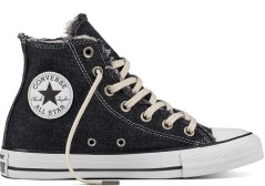 Zapatos de CT All Star High white Denim derecho