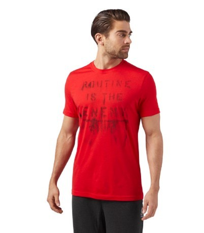 T-Shirt Uomo Crossfit Routine fronte