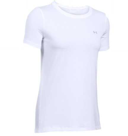 T-Shirt Donna HeatGear® Armour fronte bianco