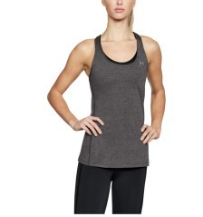 Tank top Damen HeatGear® Armour Racer rosa vor