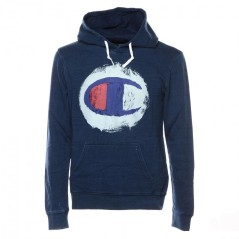 Men's sweatshirt, Indigo Hooded blue