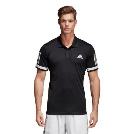 cf3b067f7678f2 Men Polo Club 3 Stripes colore Black - Adidas - SportIT.com