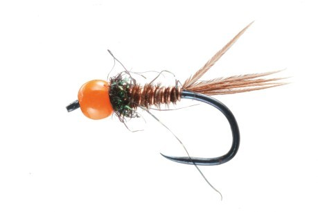 Mosca Pheasnt Tail Orange Bead