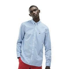 Man shirt Mini gingham check blue white front