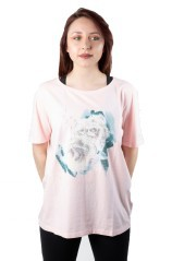 T-Shirt Donna Lady Spring Avenue rosa fronte