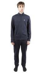 Tuta Uomo Ultra Light Full Zip fronte grigio blu