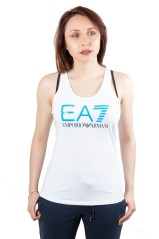 Tank top ladies Training Core white faced blue