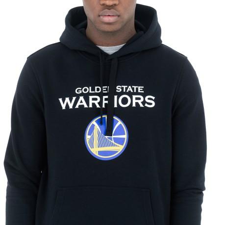 Felpa Uomo Golden State Warriors Cappuccio colore Nero - New Era ... 3a6708e7e7df