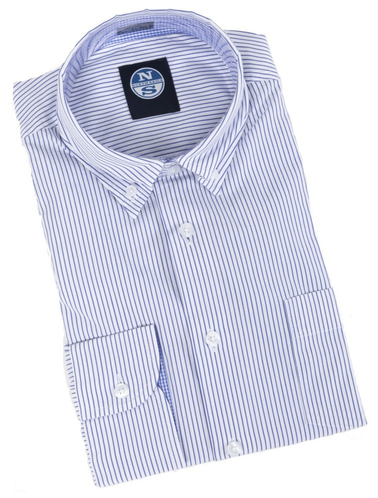 Checked North Uomo Longsleeve Camicia Sails BX5xq
