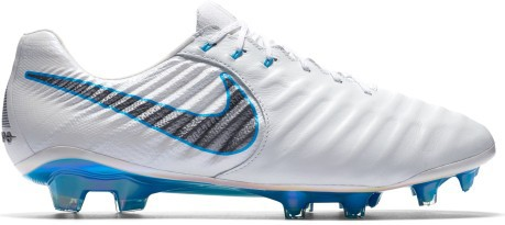 Adolescente Disfraces cristiano  Football boots Nike Tiempo Legend VII Elite FG Just Do It Pack colore White  Blue - Nike - SportIT.com