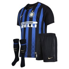 Mini Kit Inter Home 18/19 nero azzurro