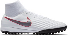 Scarpe Calcetto Nike Magista ObraX Academy DF TF Just Do It Pack bianche