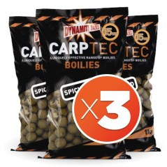 Boilies Carp-Tec-Spicy Squid-20 mm 2 kg (3 beutel)