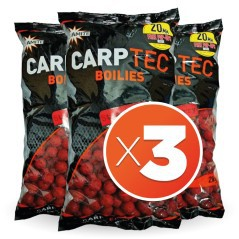 Boilies Carp-Tec Strawberry 20 mm 2 kg (3 sacchetti)