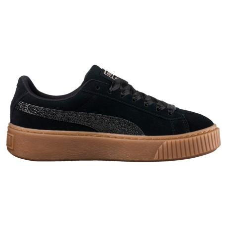 Platform Bubble Woman Puma Beige Black Colore Suede Shoes qvROgAq