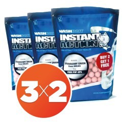 Boilies Instant Action Strawberry Crush 18 mm 3X2
