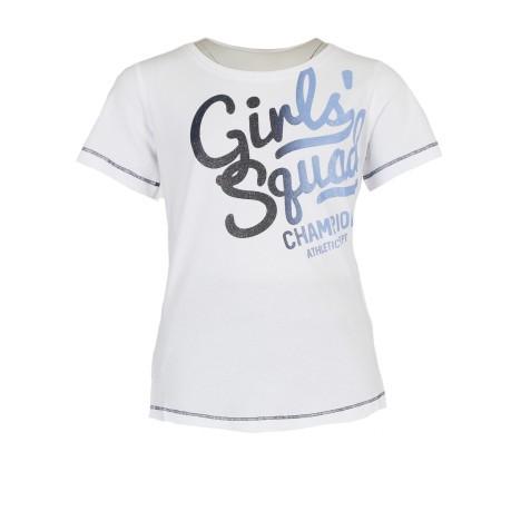 fd4e6fff7738 T-Shirt Girl Written colore White Light blue - Champion - SportIT.com