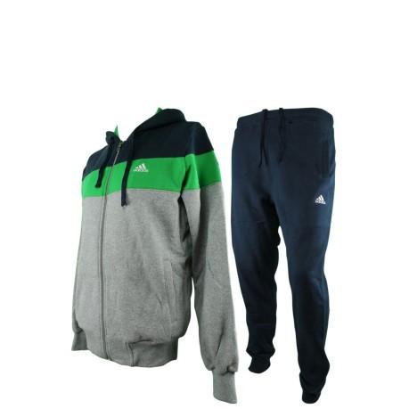pantaloni tuta uomo adidas cotone verdi