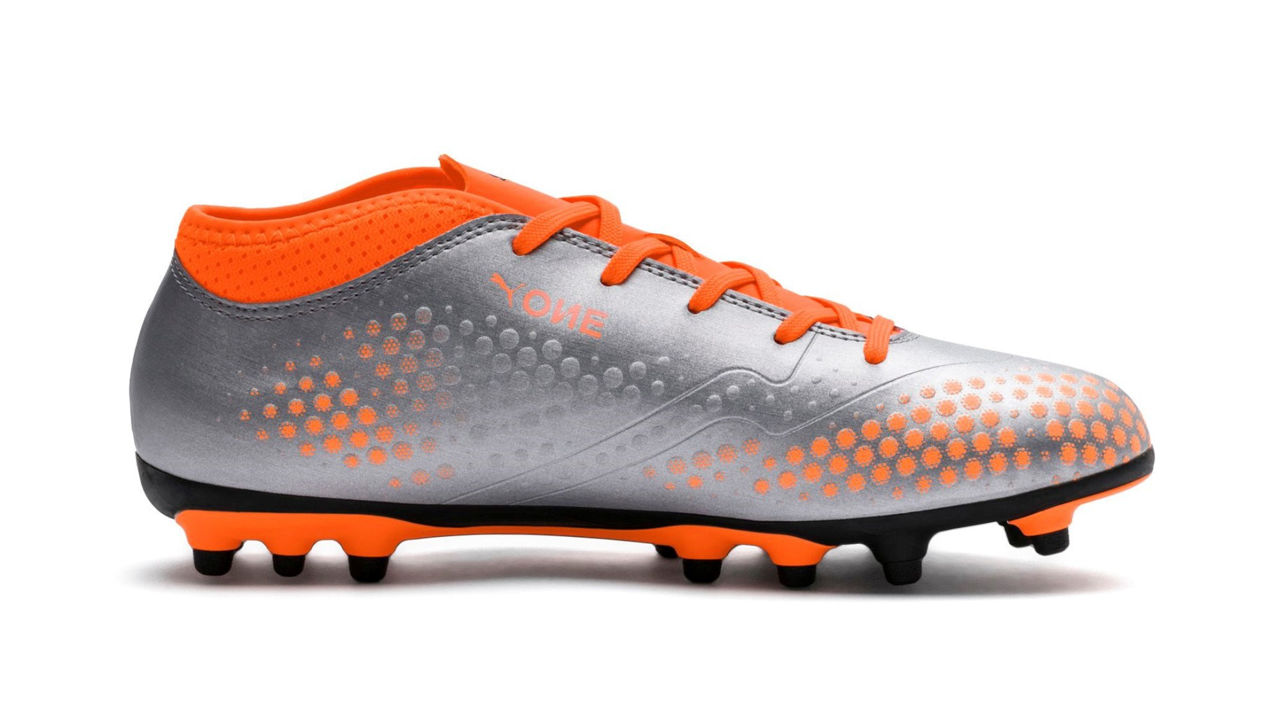 b8870ebaa Kids Football boots Puma One 4 Syn AG Uprising Pack colore Silver Orange -  Puma - SportIT.com