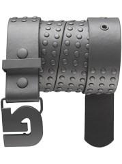 Cintura studded belt grigia